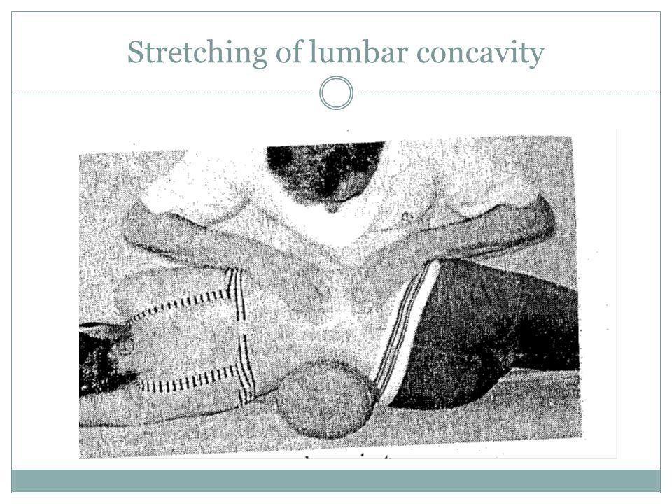 Stretching of lumbar concavity