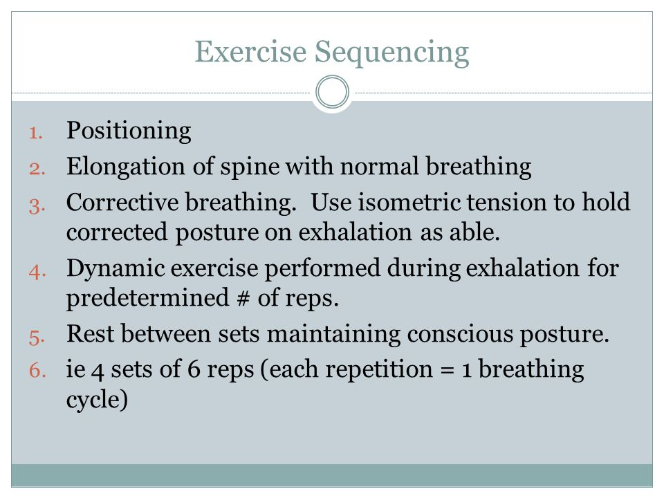Exercise Sequencing Positioning