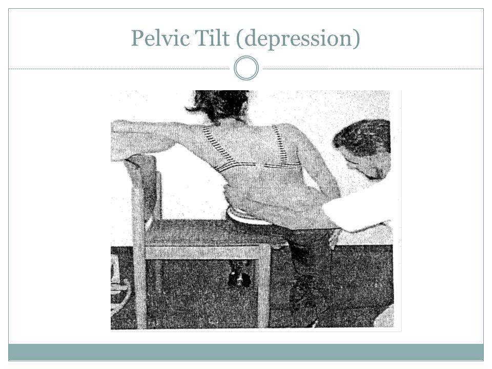Pelvic Tilt (depression)
