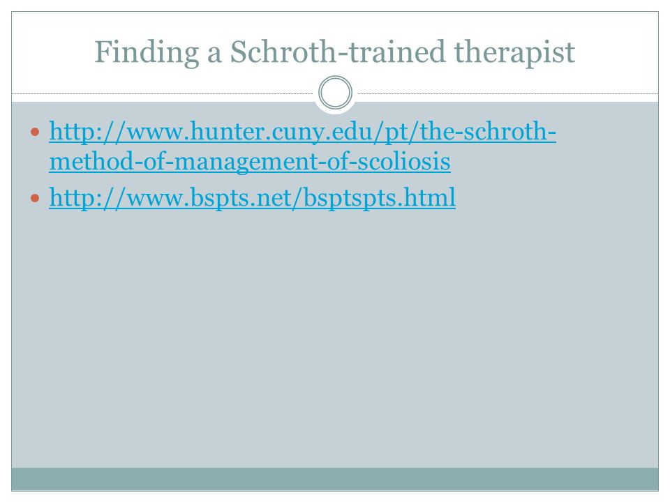 Finding a Schroth-trained therapist