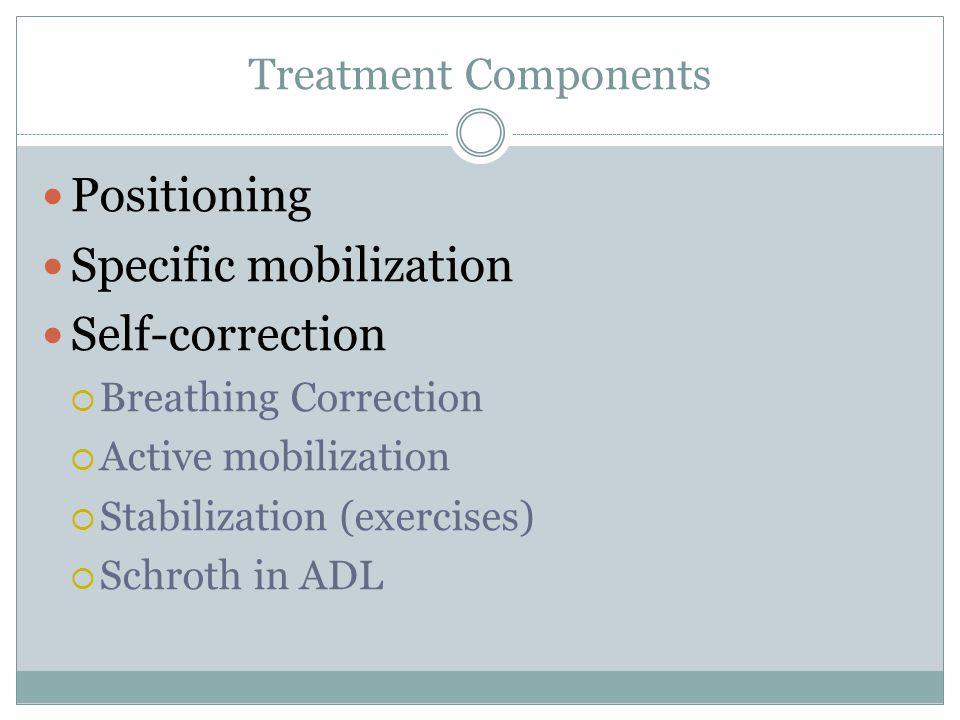 Specific mobilization Self-correction