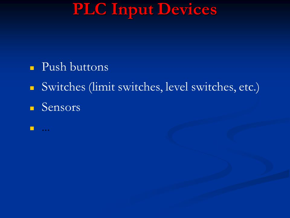 PLC Input Devices Push buttons