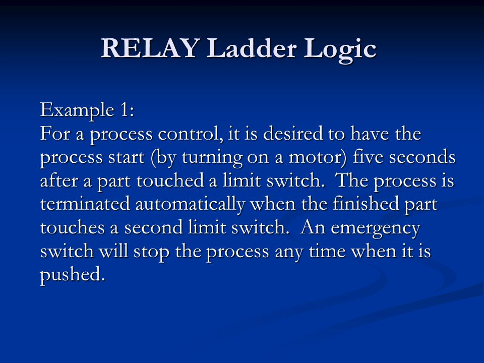 RELAY Ladder Logic