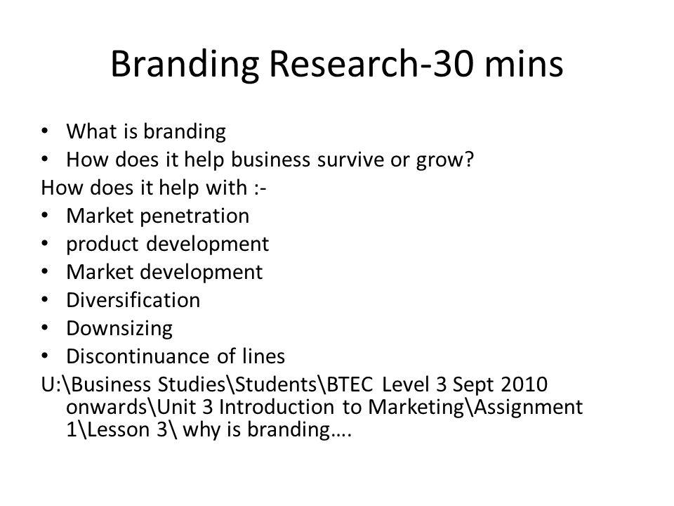 Branding Research-30 mins