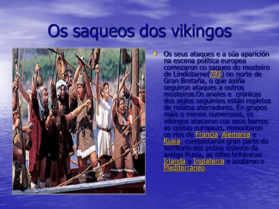 Os saqueos dos vikingos