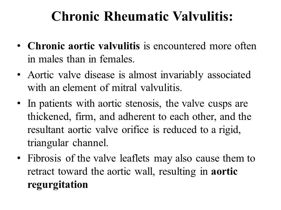Chronic Rheumatic Valvulitis: