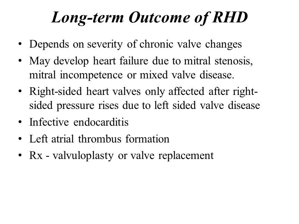 Long-term Outcome of RHD