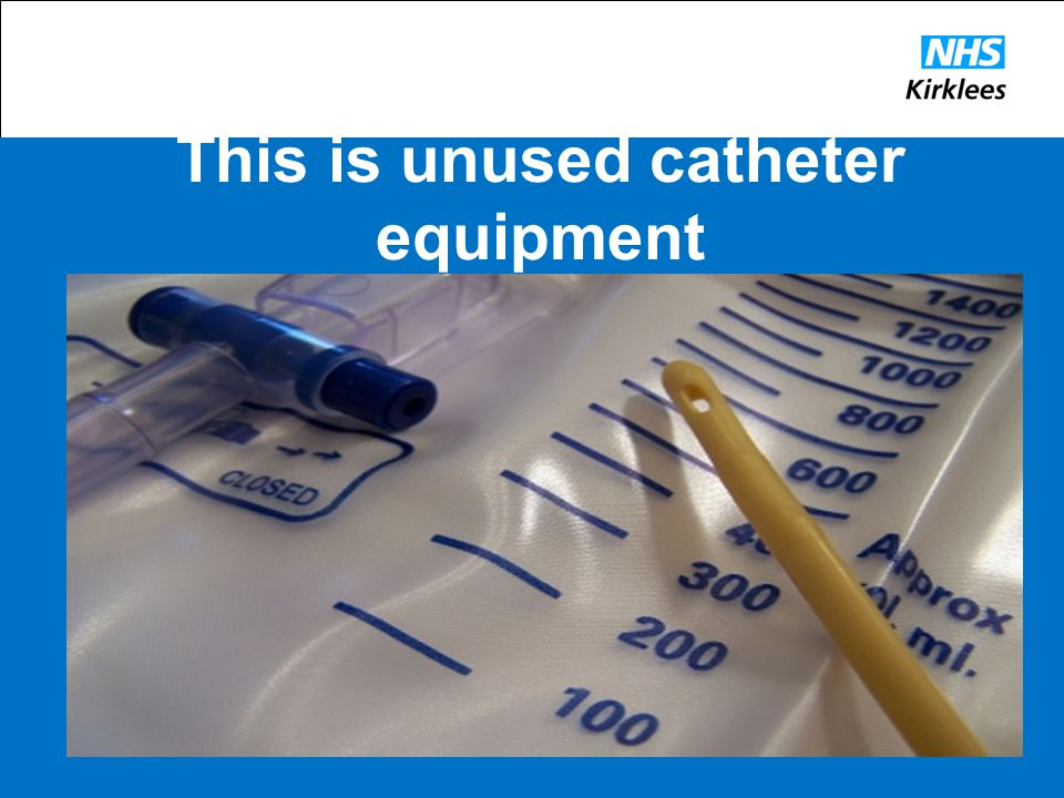 This is unused catheter equipment
