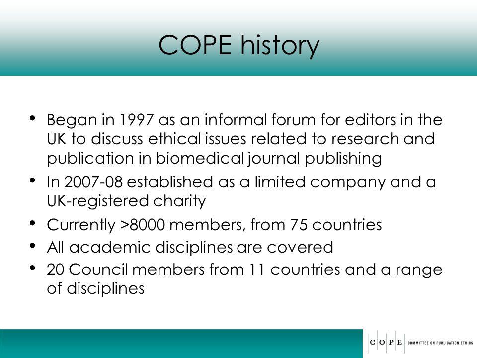 COPE history