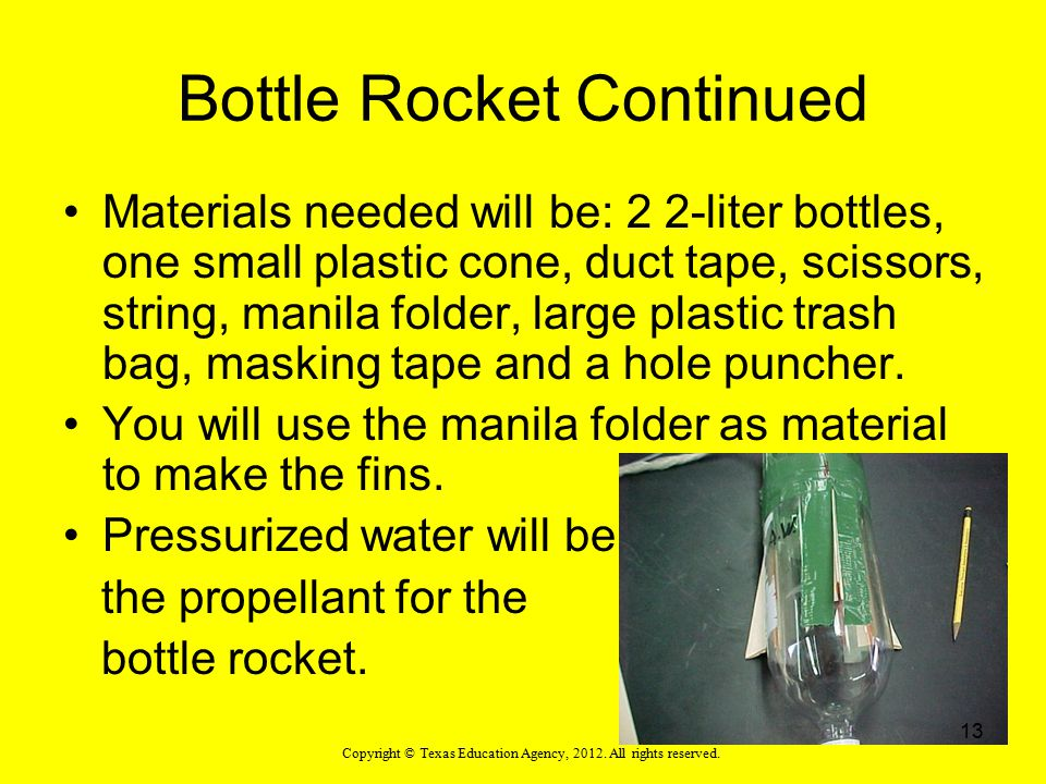 Bottle Rocket Continued