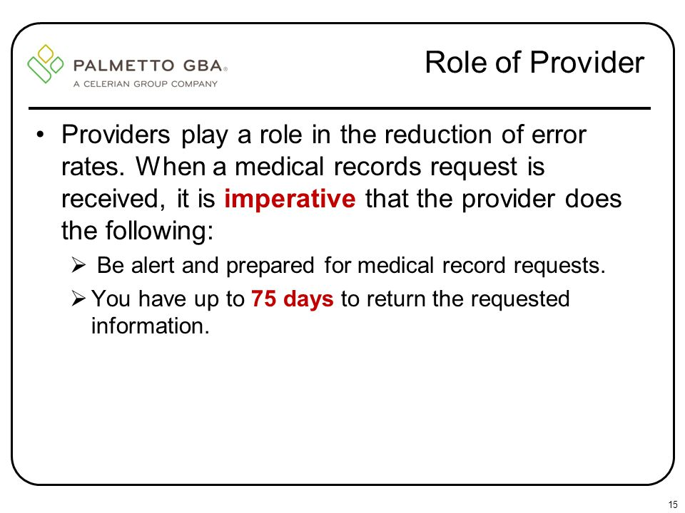 Role of Provider