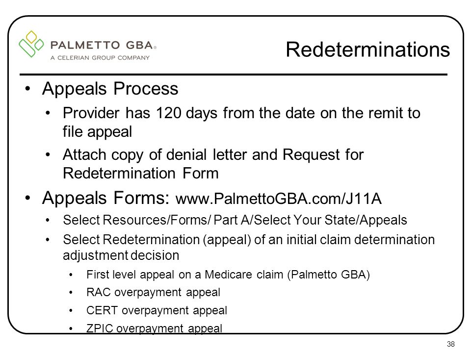 Redeterminations Appeals Process