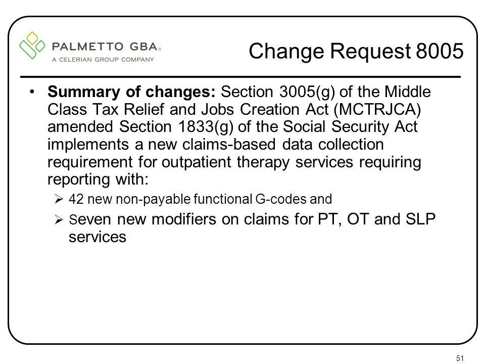 Change Request 8005