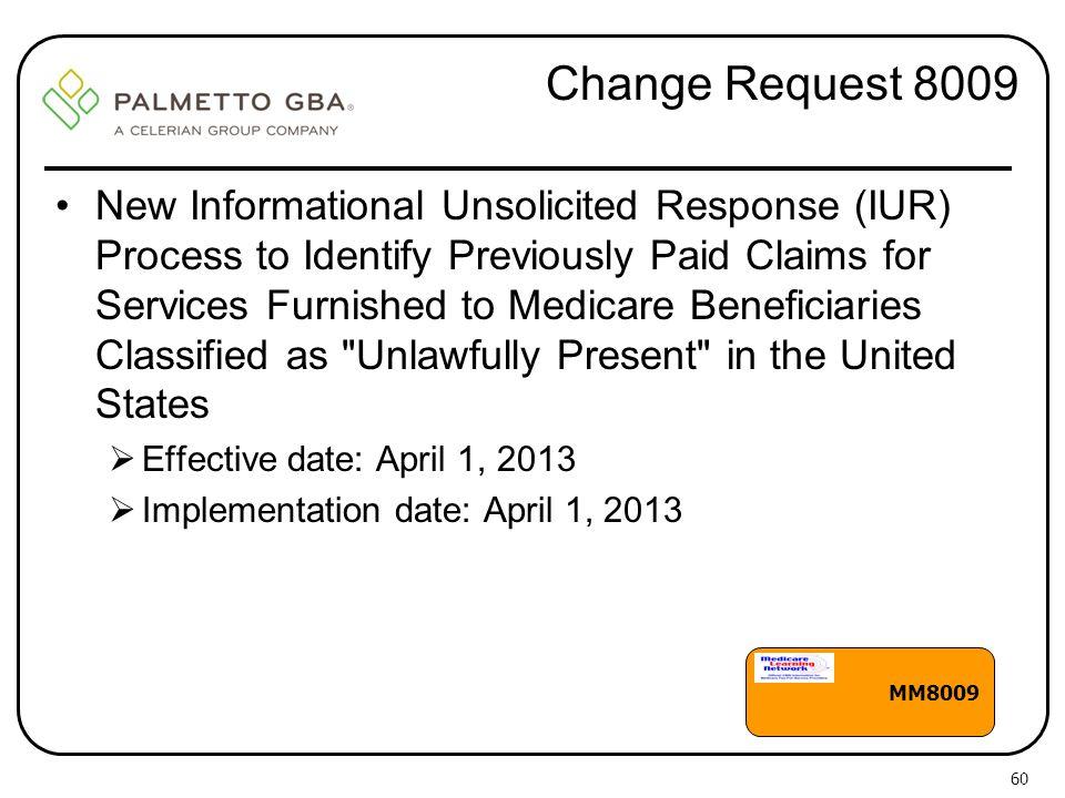 Change Request 8009