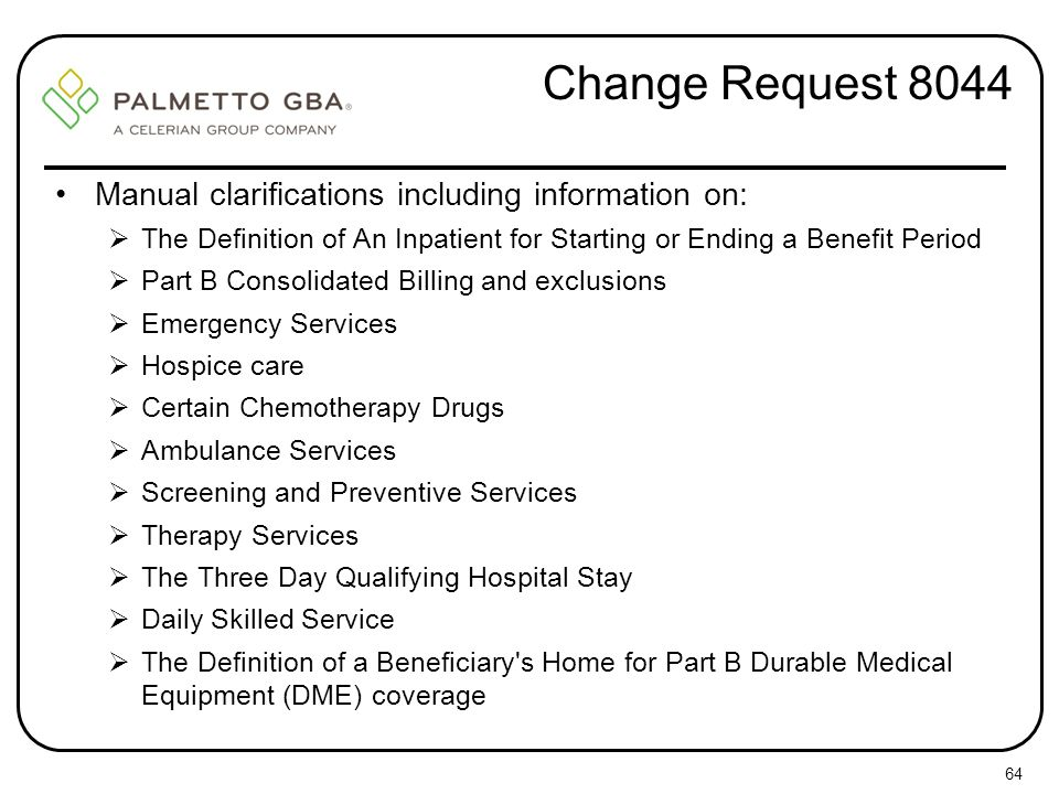 Change Request 8044 Manual clarifications including information on: