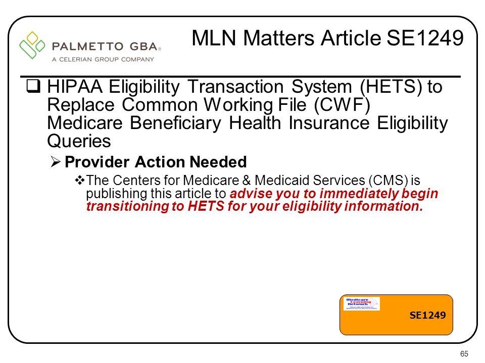 MLN Matters Article SE1249