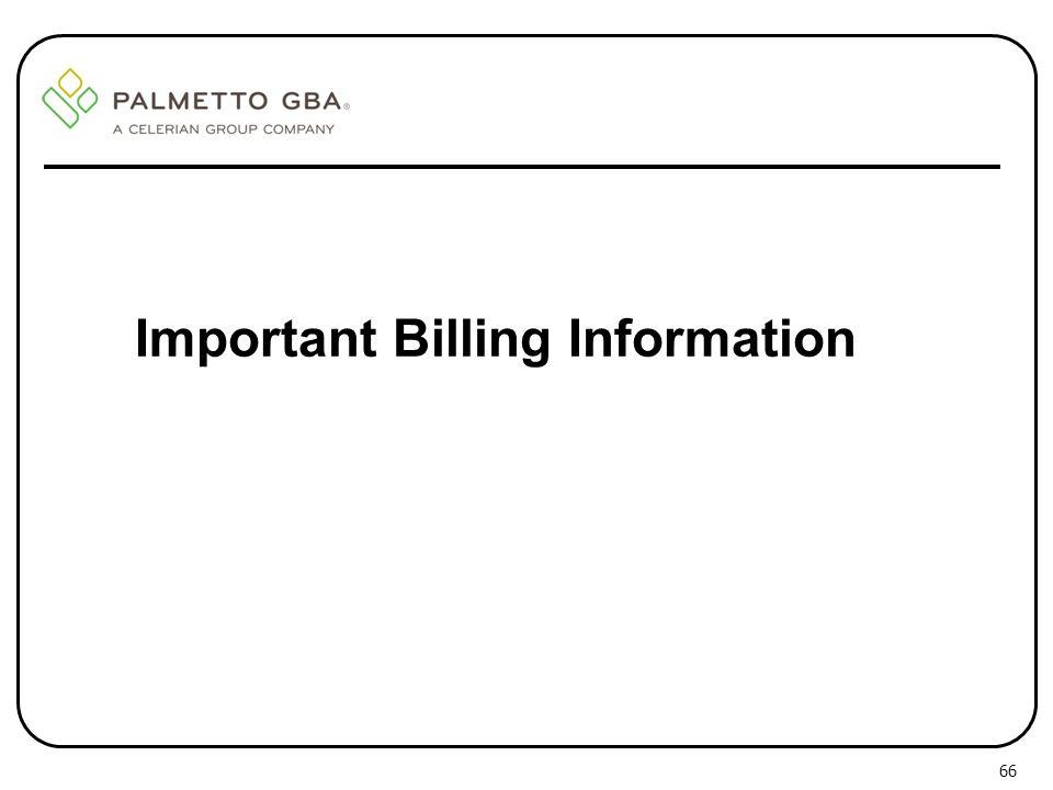 Important Billing Information