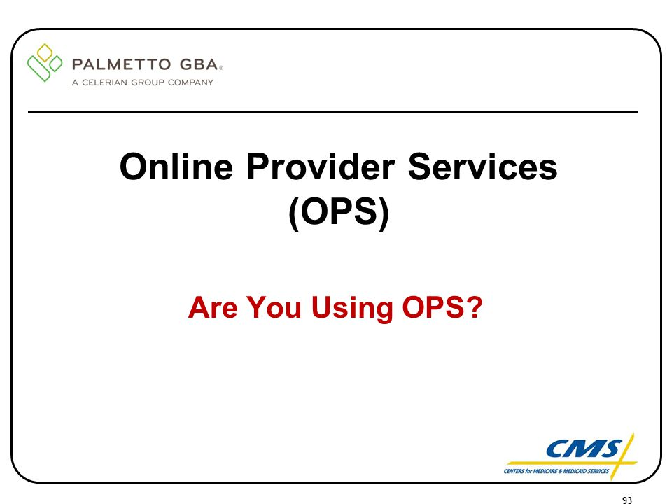 Online Provider Services (OPS)
