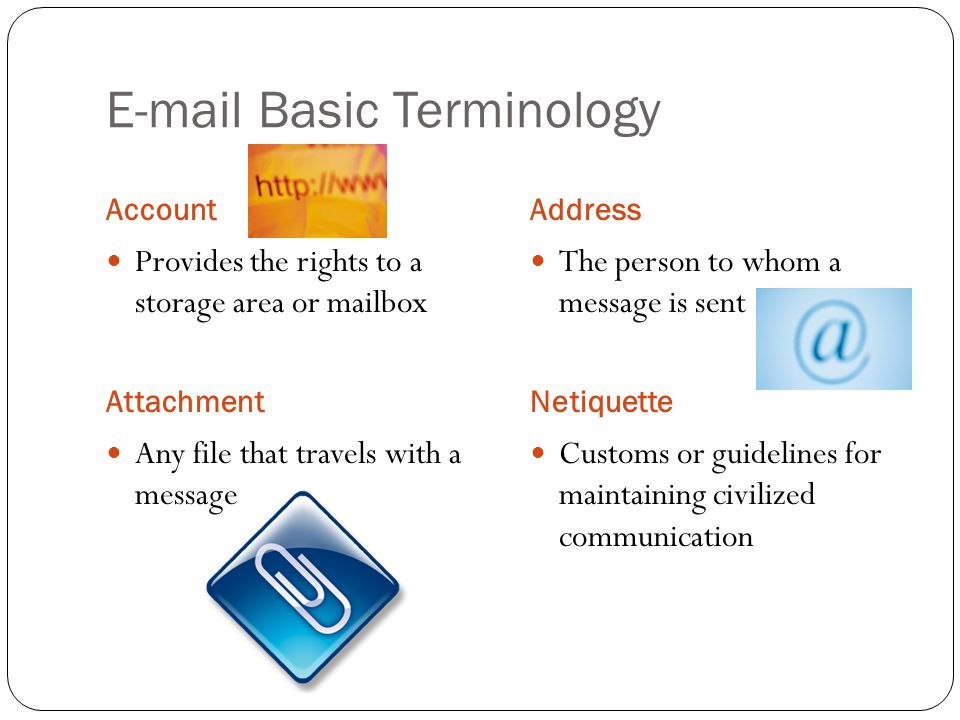 E-mail Basic Terminology