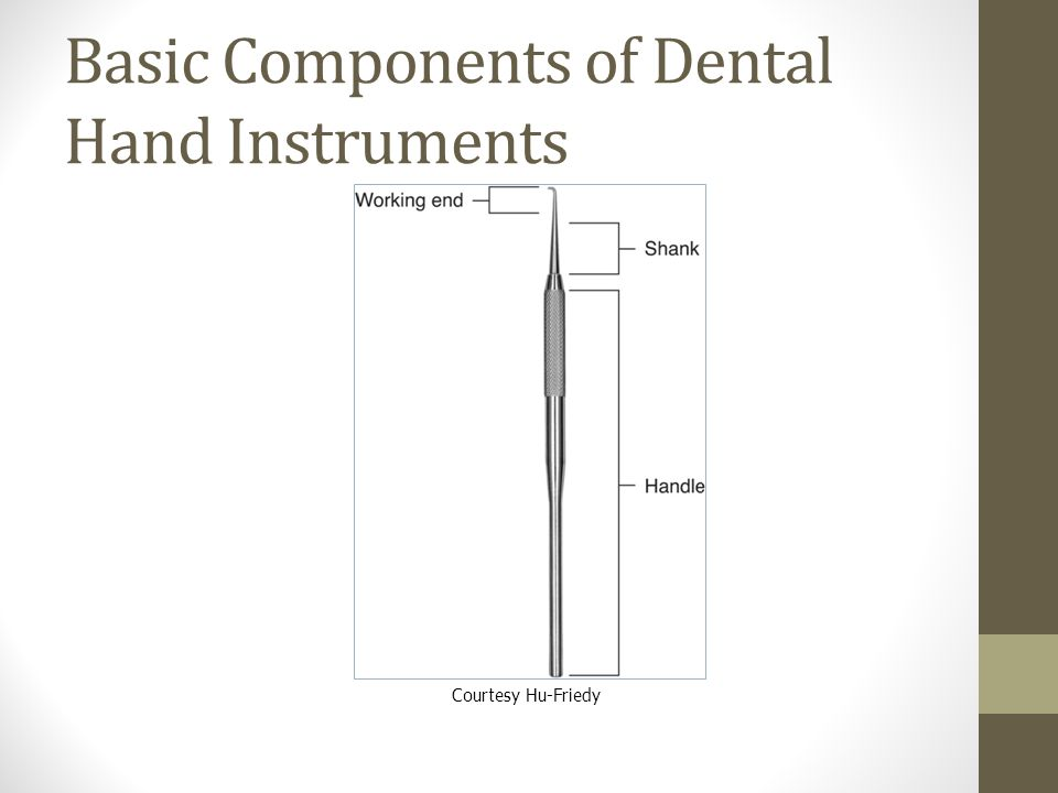 Basic Components of Dental Hand Instruments