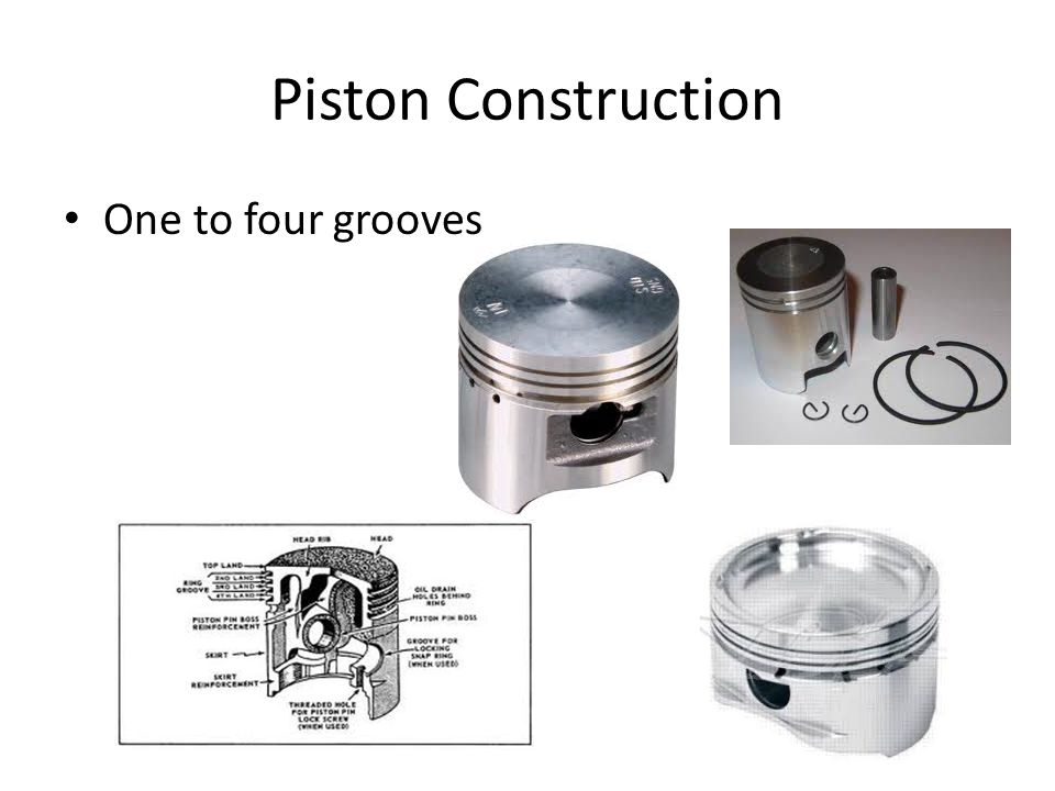 Piston Construction One to four grooves