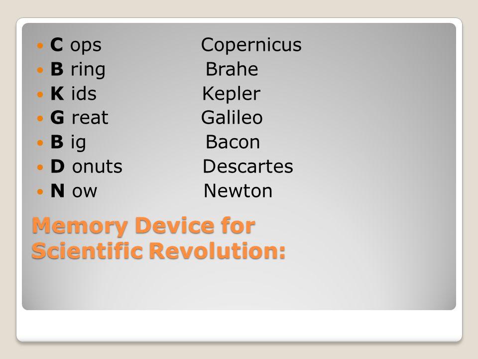 Memory Device for Scientific Revolution: