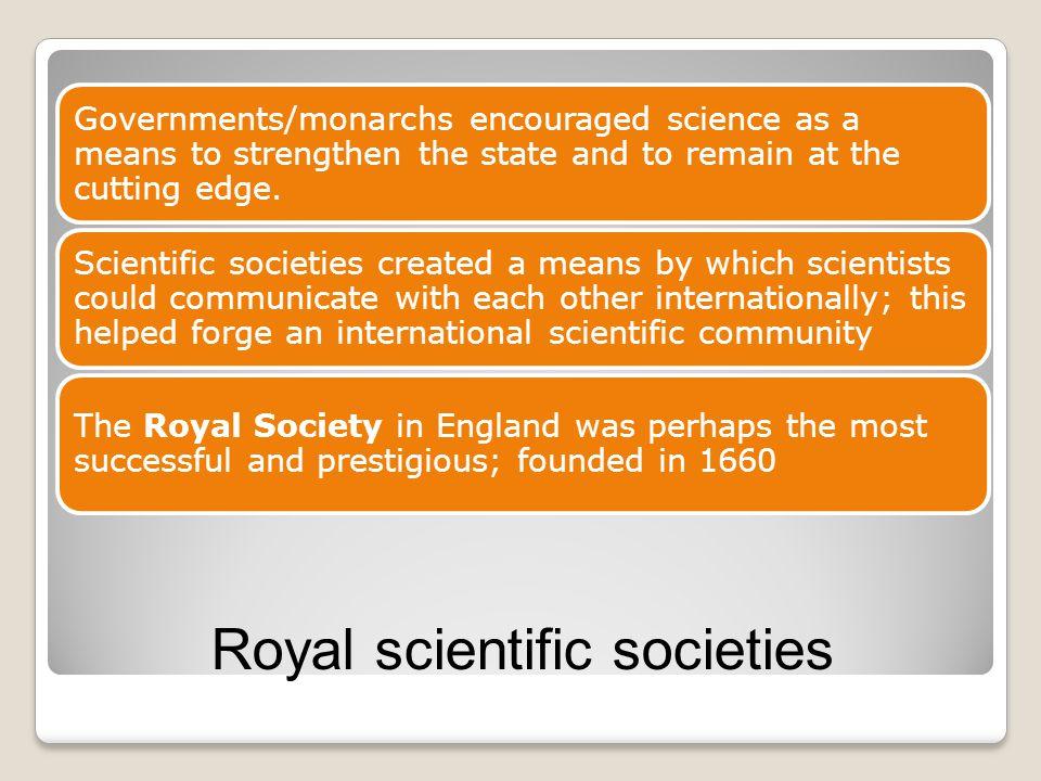 Royal scientific societies