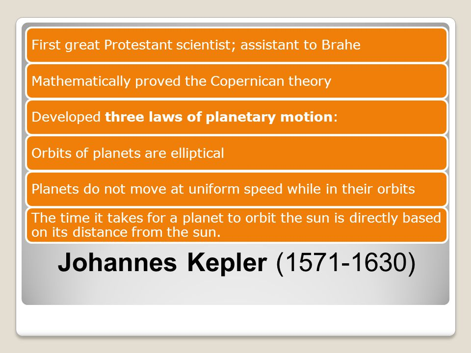 First great Protestant scientist; assistant to Brahe