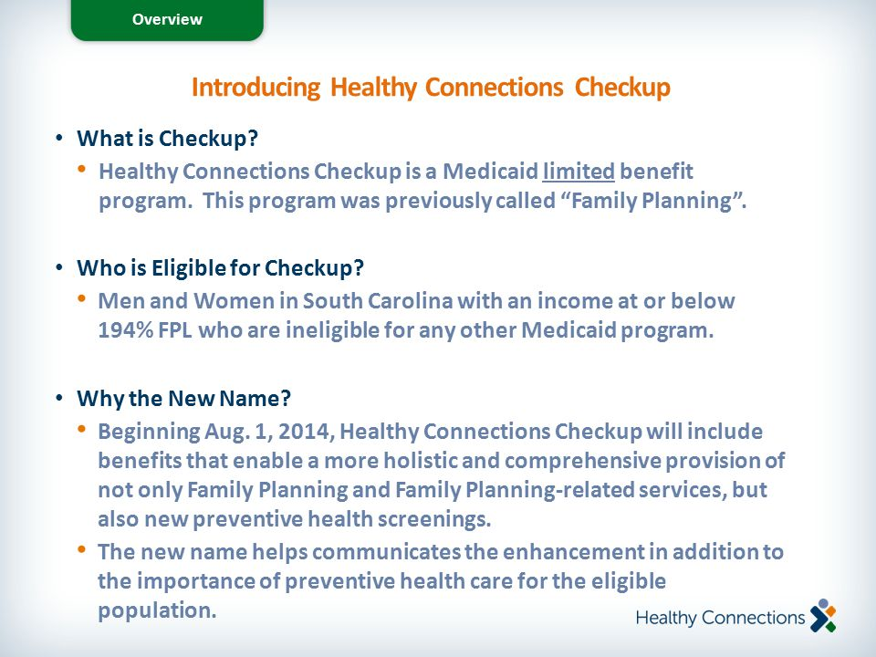 Introducing Healthy Connections Checkup