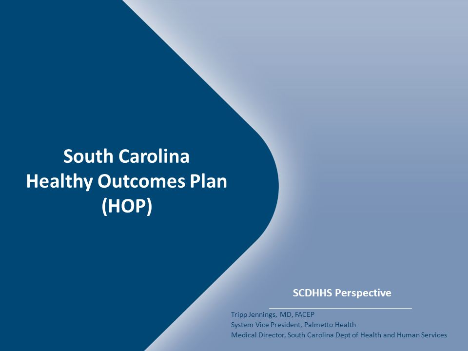 South Carolina Healthy Outcomes Plan (HOP)