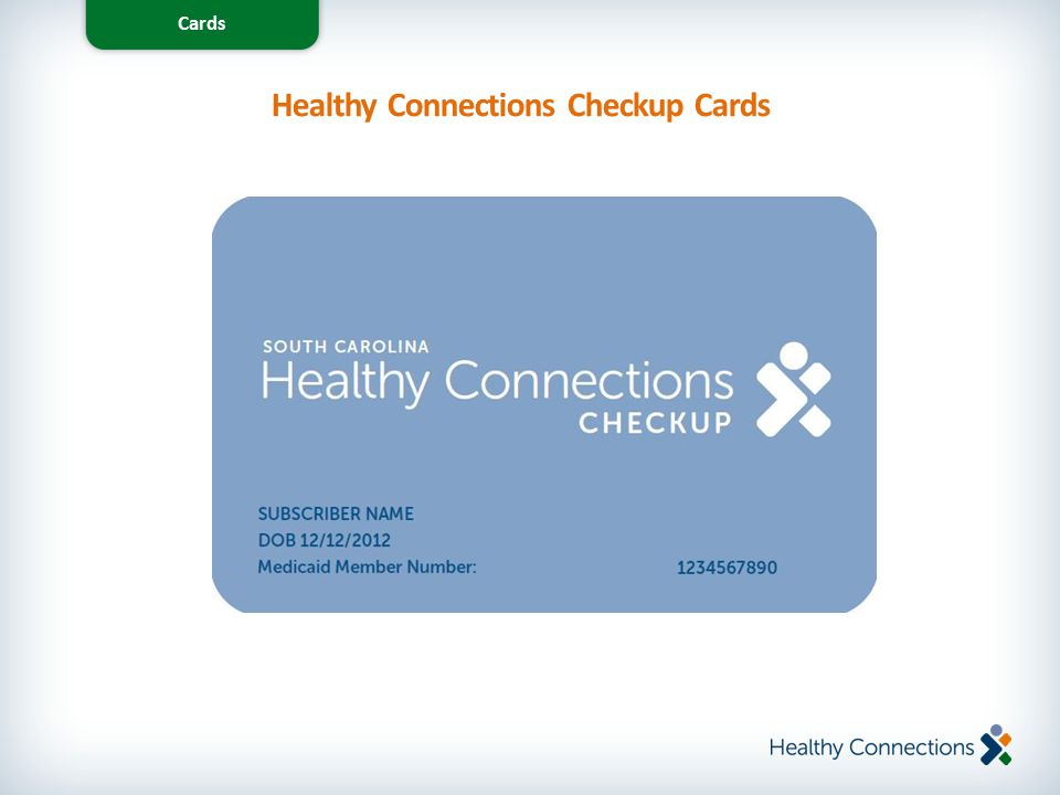 Healthy Connections Checkup Cards