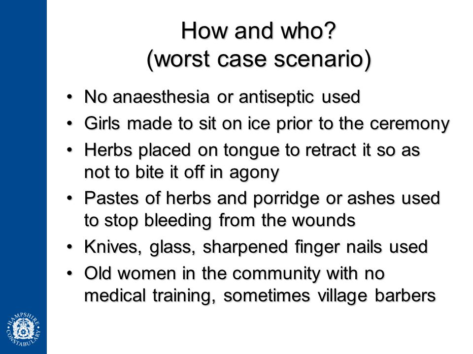 How and who (worst case scenario)