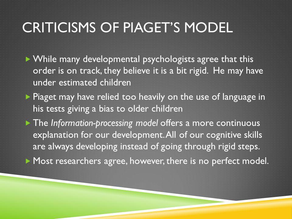 Criticisms of Piaget's model