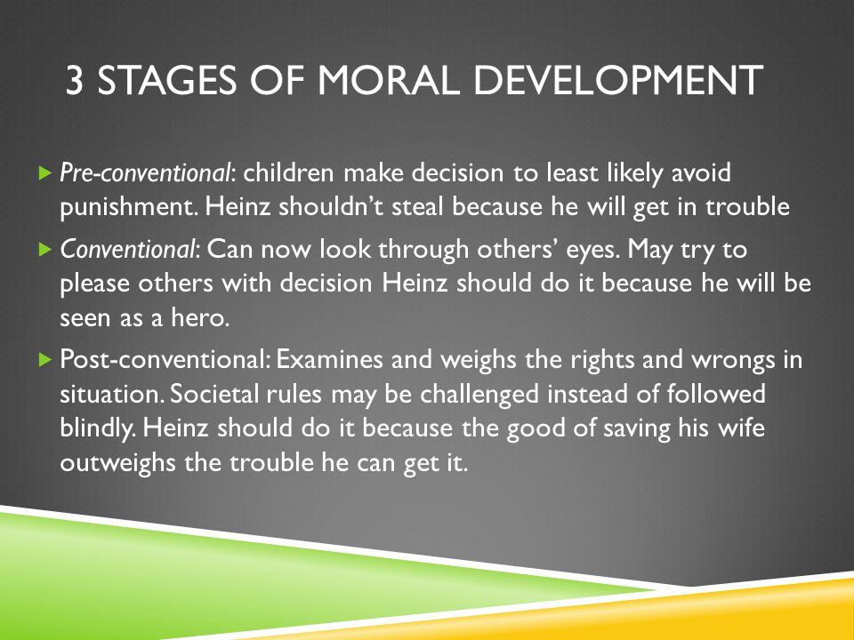 3 Stages of Moral Development