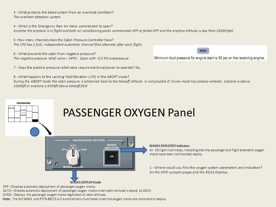 PASSENGER OXYGEN Panel