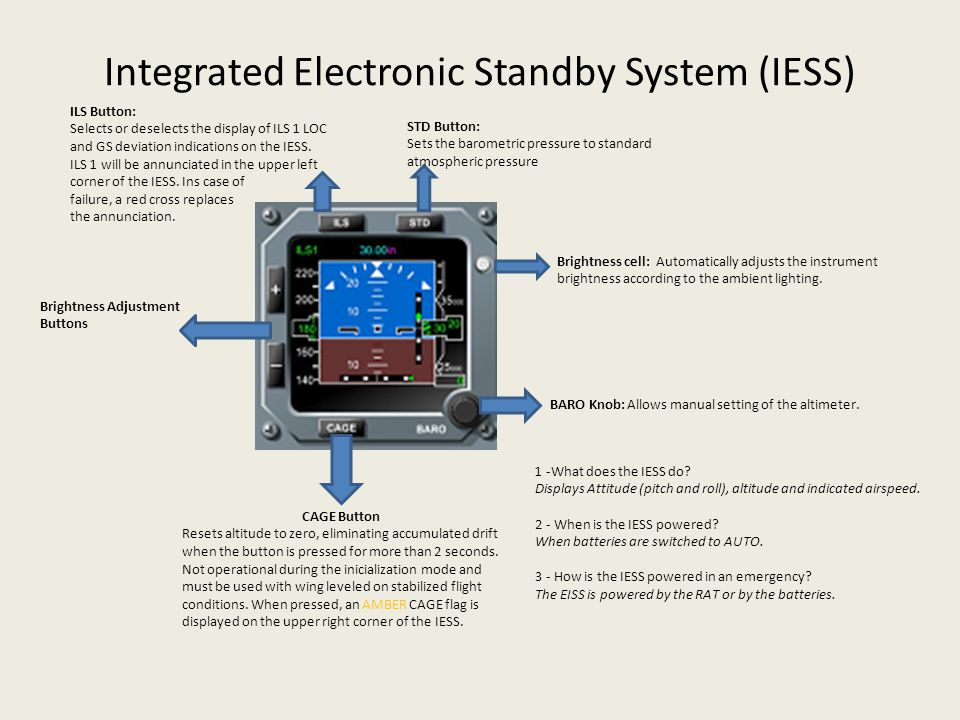 Integrated Electronic Standby System (IESS)