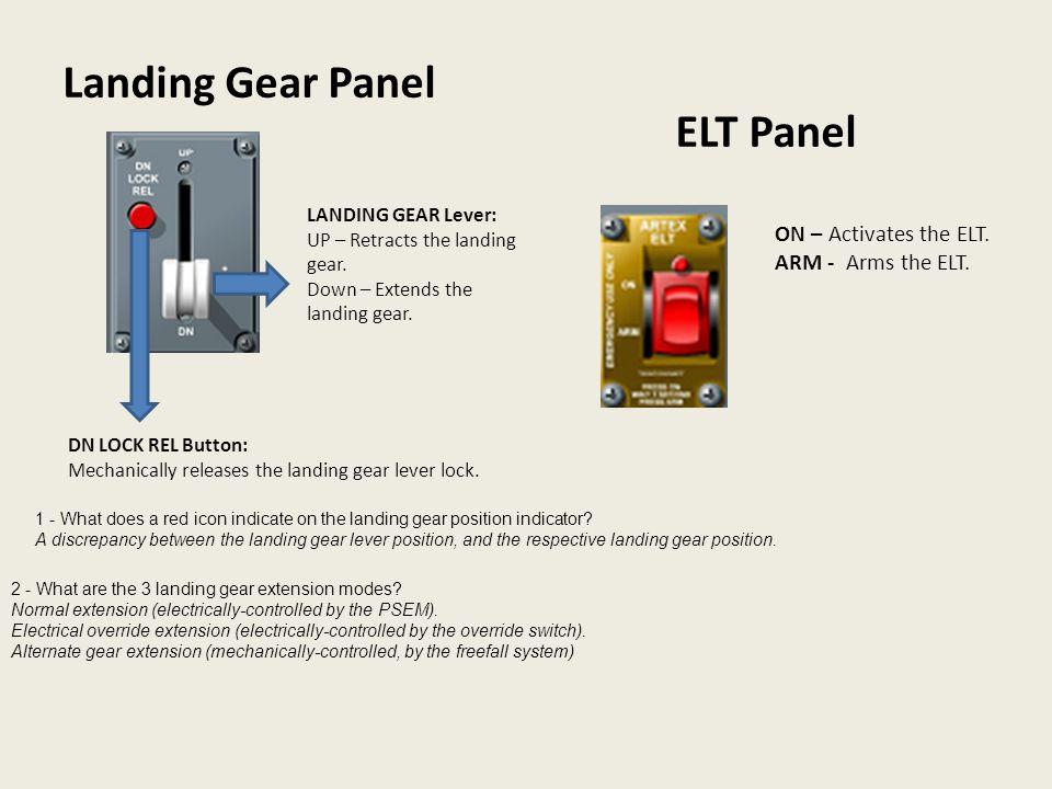 Landing Gear Panel ELT Panel