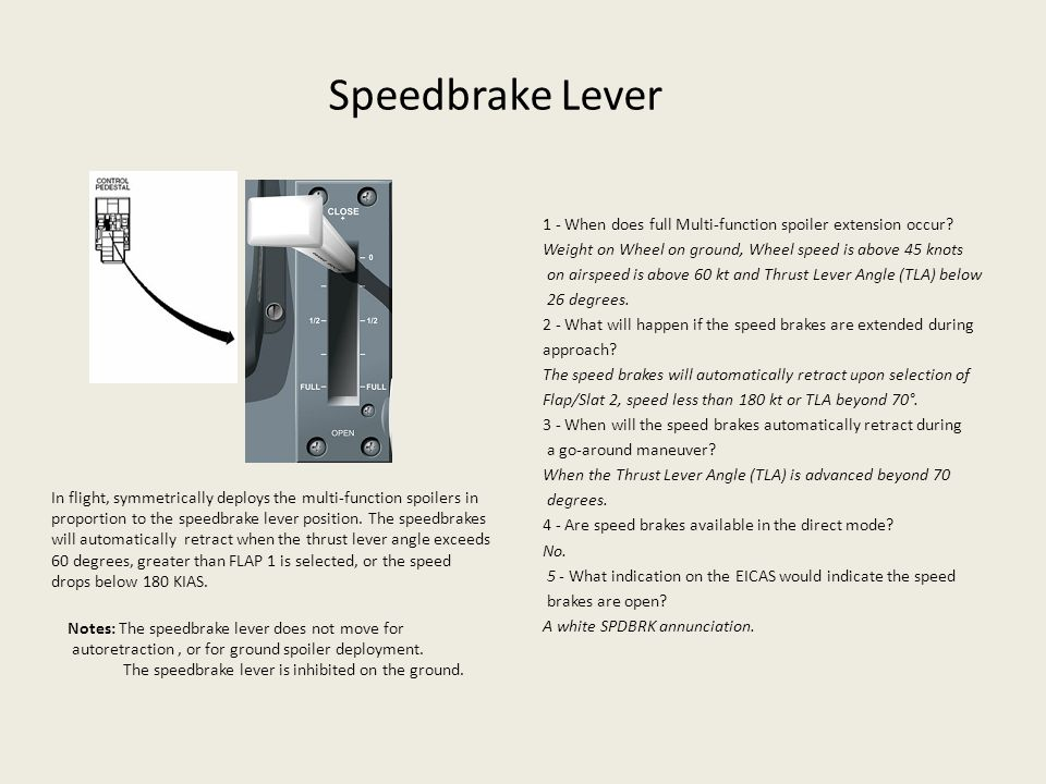 Speedbrake Lever