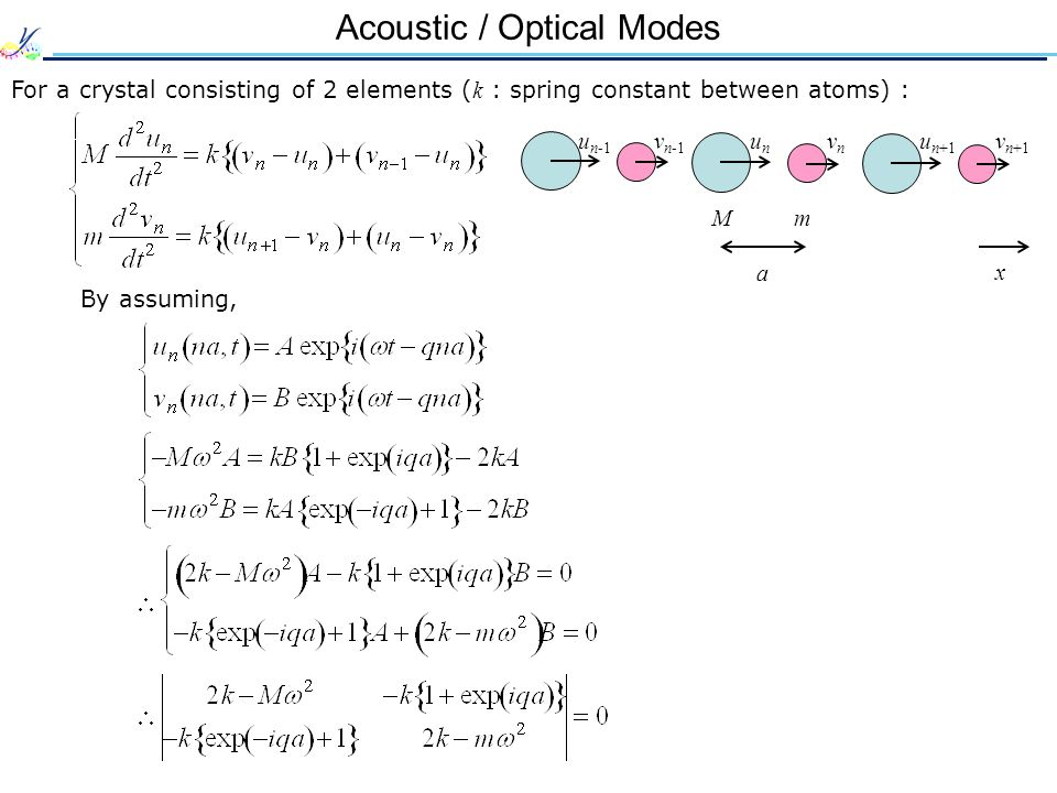 Acoustic / Optical Modes