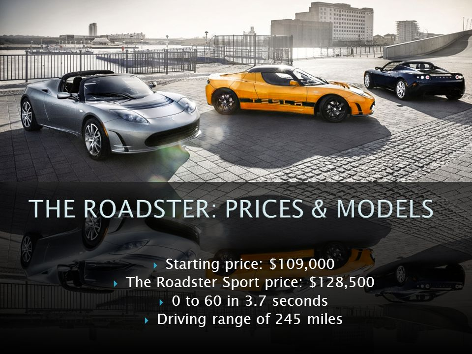 THE ROADSTER: PRICES & MODELS
