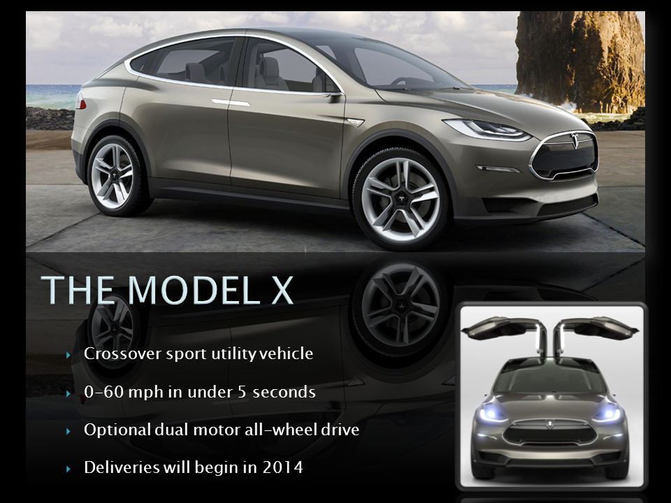 THE MODEL X Crossover sport utility vehicle