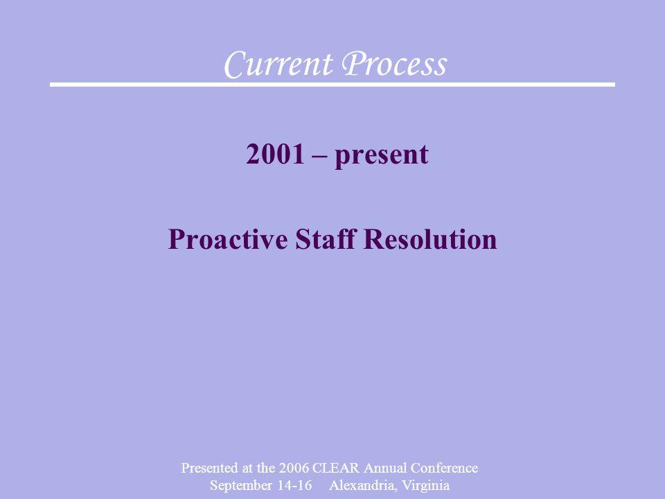 Proactive Staff Resolution