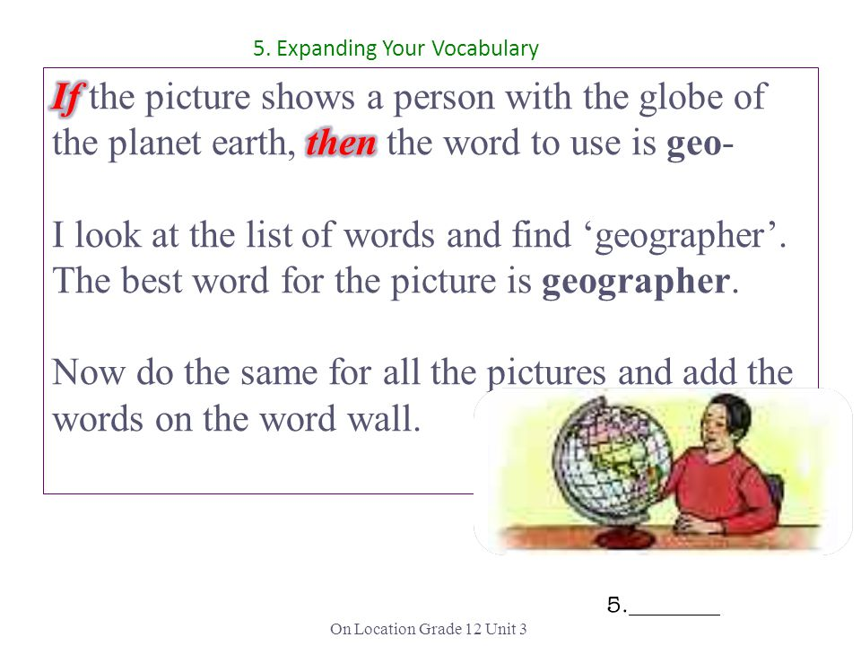 5. Expanding Your Vocabulary