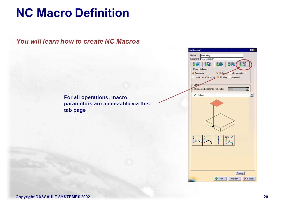 You will learn how to create NC Macros