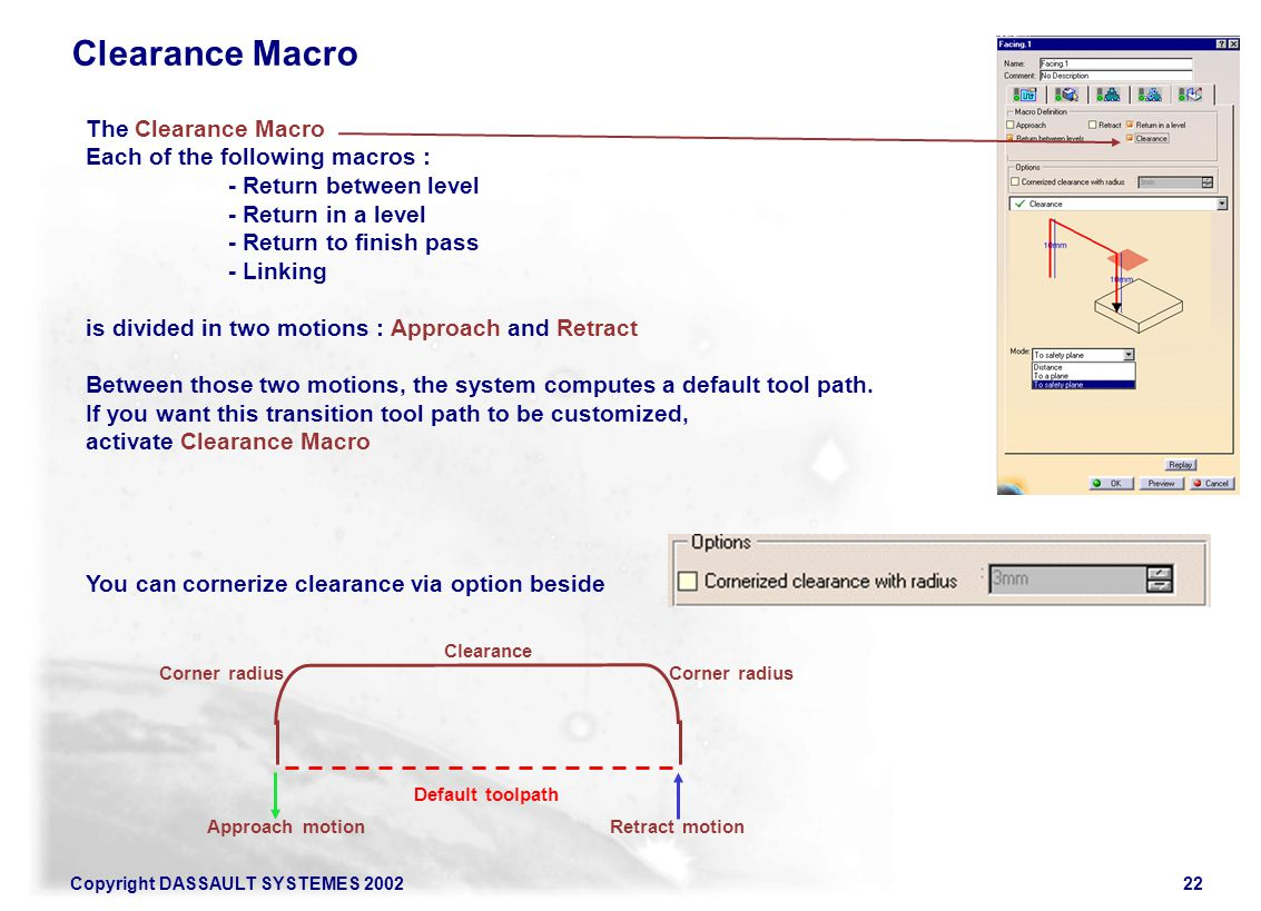 Clearance Macro The Clearance Macro Each of the following macros :