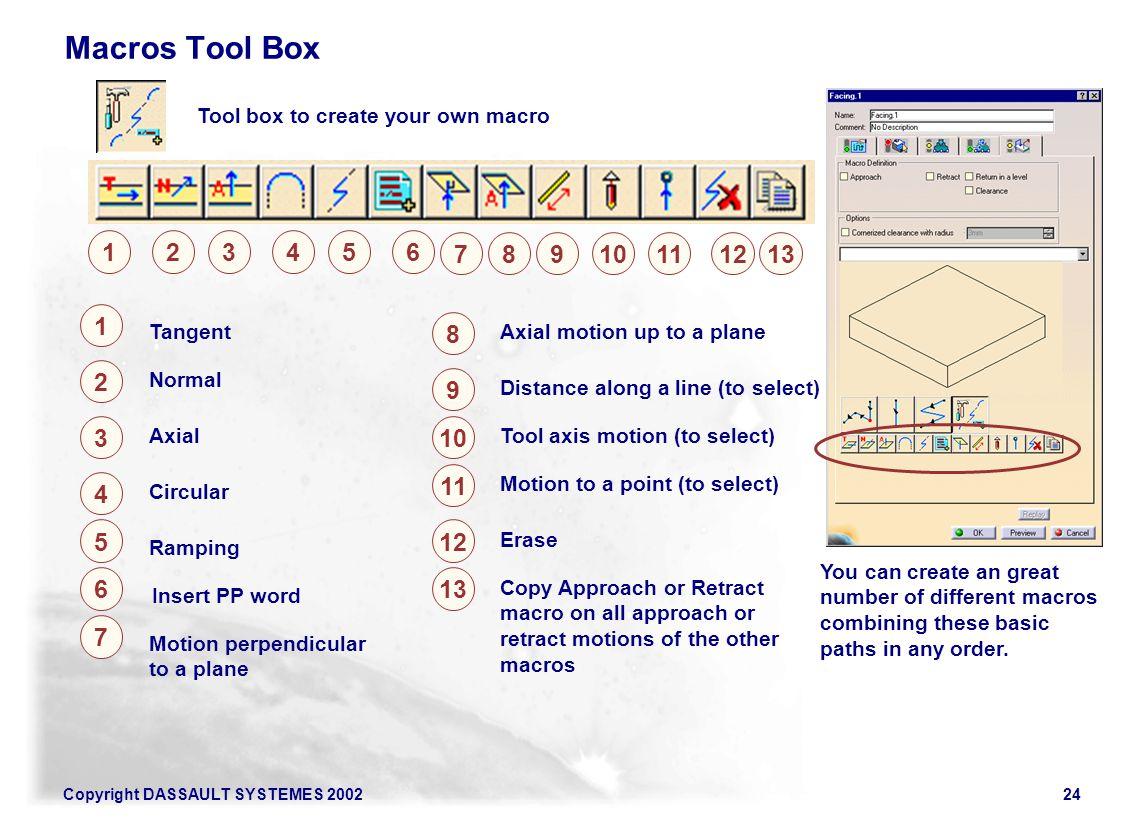 Macros Tool Box Tool box to create your own macro. 1. 2. 3. 4. 5. 6. 7. 8. 9. 10. 11. 12.