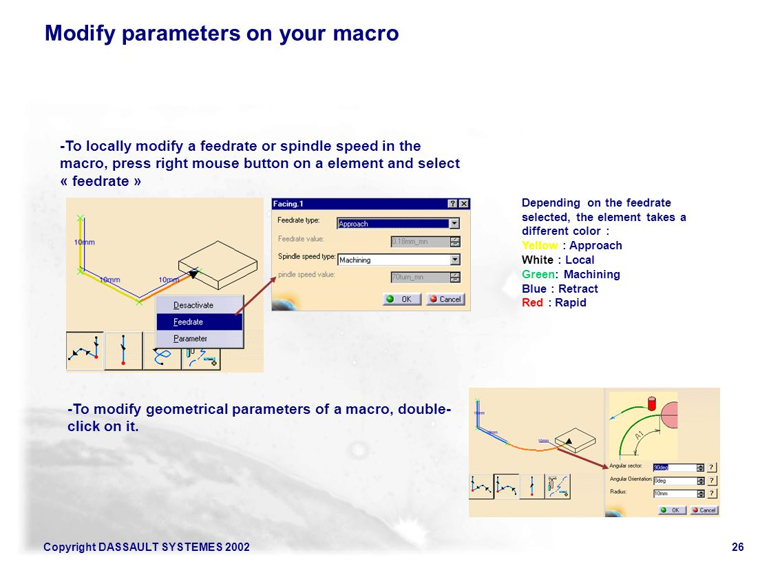 Modify parameters on your macro