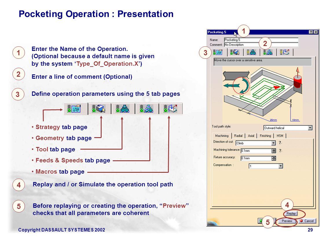 Pocketing Operation : Presentation