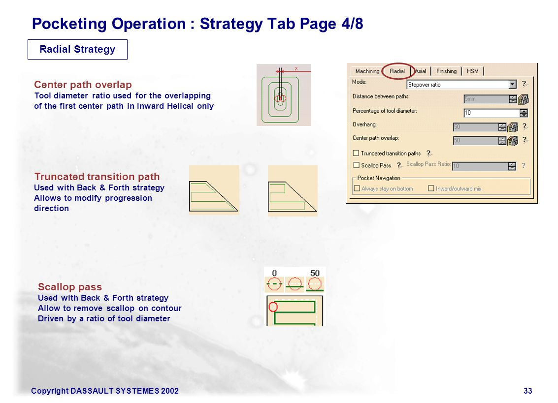 Pocketing Operation : Strategy Tab Page 4/8