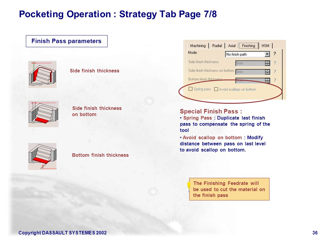 Pocketing Operation : Strategy Tab Page 7/8